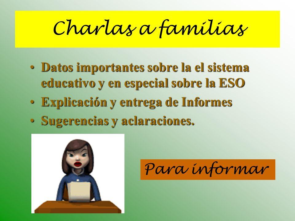 Charlas a familias Para informar