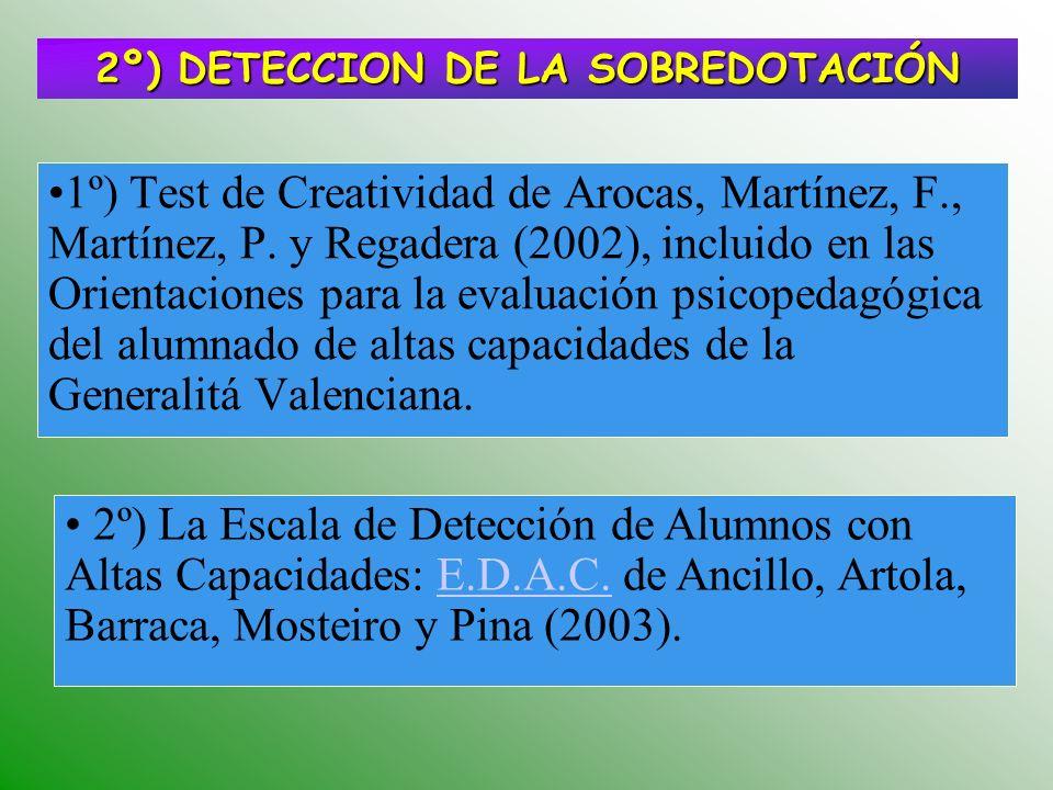2º) DETECCION DE LA SOBREDOTACIÓN