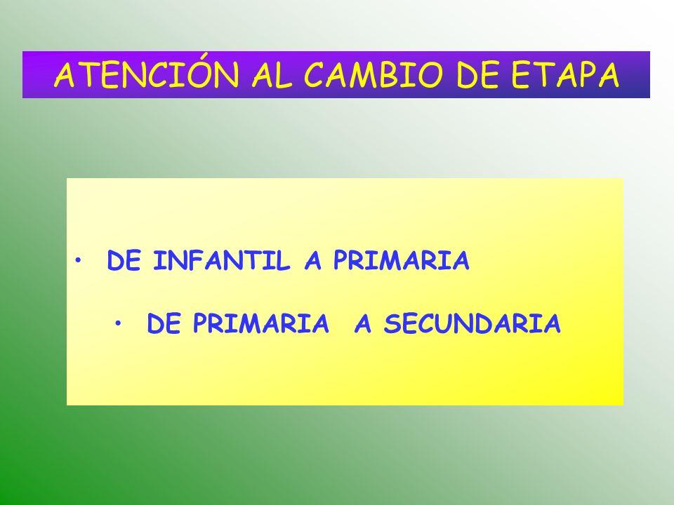 ATENCIÓN AL CAMBIO DE ETAPA