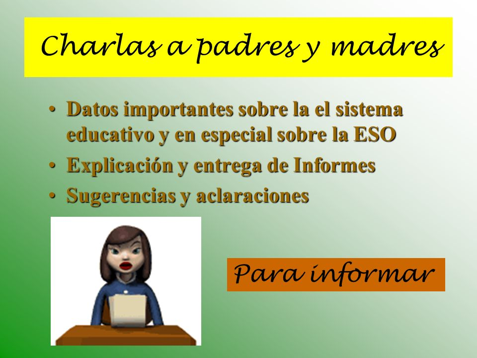 Charlas a padres y madres