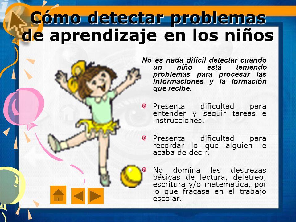 Cómo detectar problemas de aprendizaje en los niños