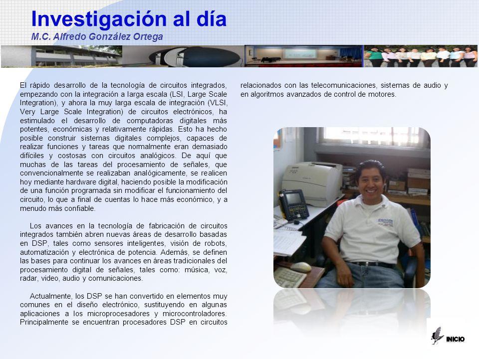 Investigación al día M.C. Alfredo González Ortega