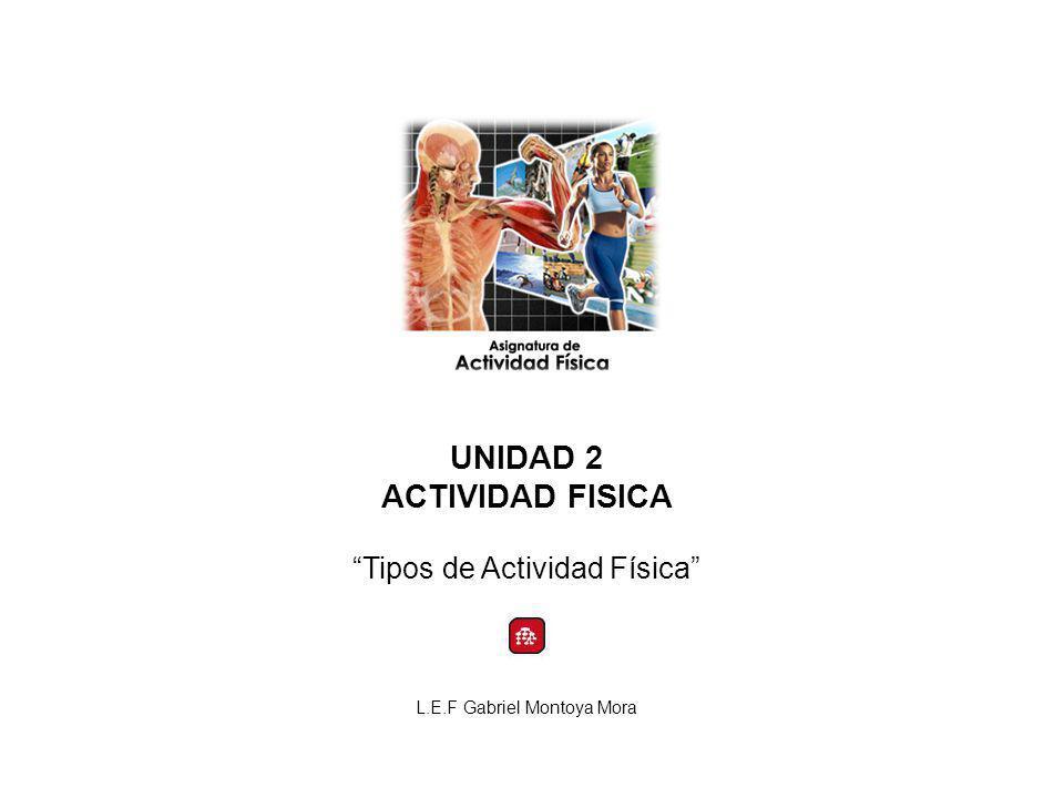 UNIDAD 2 ACTIVIDAD FISICA Tipos de Actividad Física