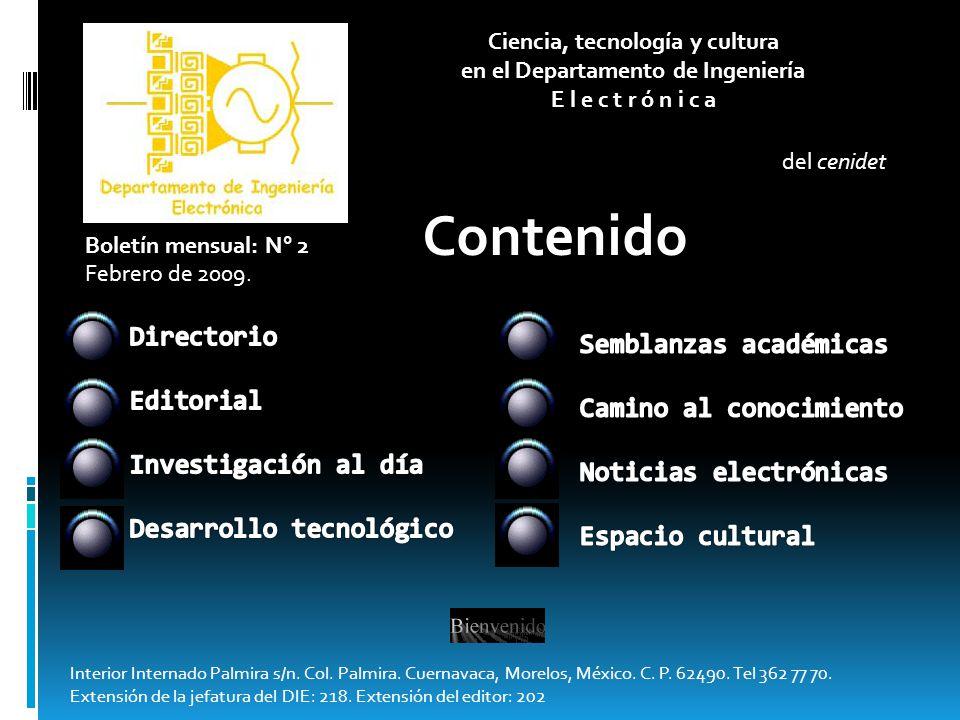 Directorio Editorial Investigación al día Desarrollo tecnológico