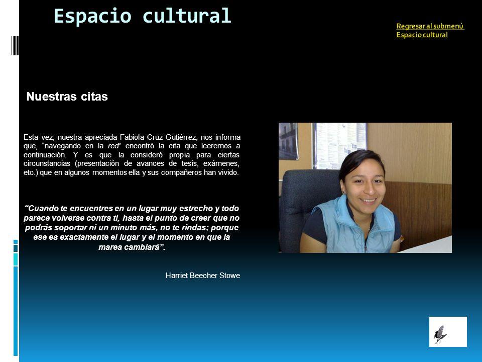 Espacio cultural Nuestras citas