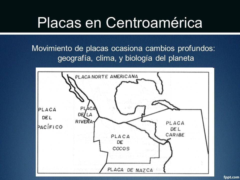 Placas en Centroamérica