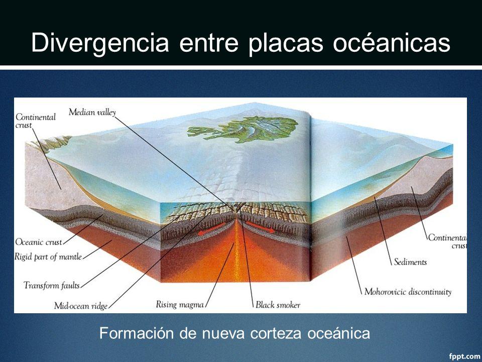 Divergencia entre placas océanicas