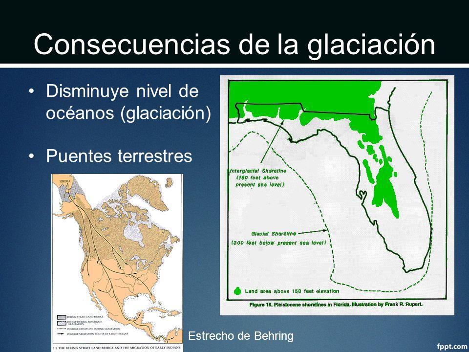 Consecuencias de la glaciación