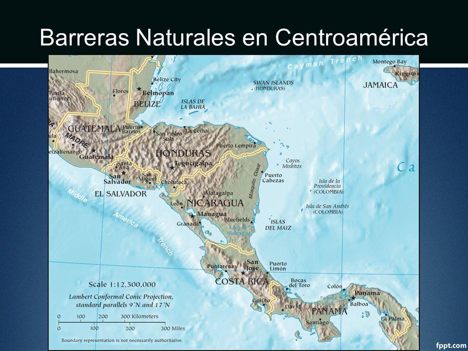 Barreras Naturales en Centroamérica