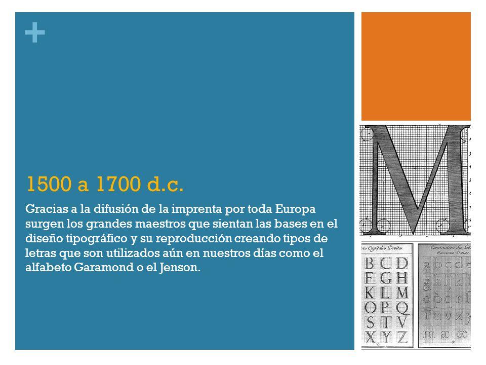 1500 a 1700 d.c.