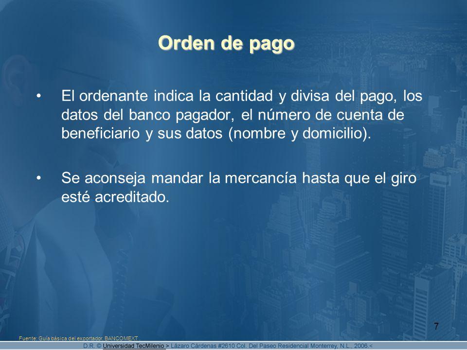 Orden de pago
