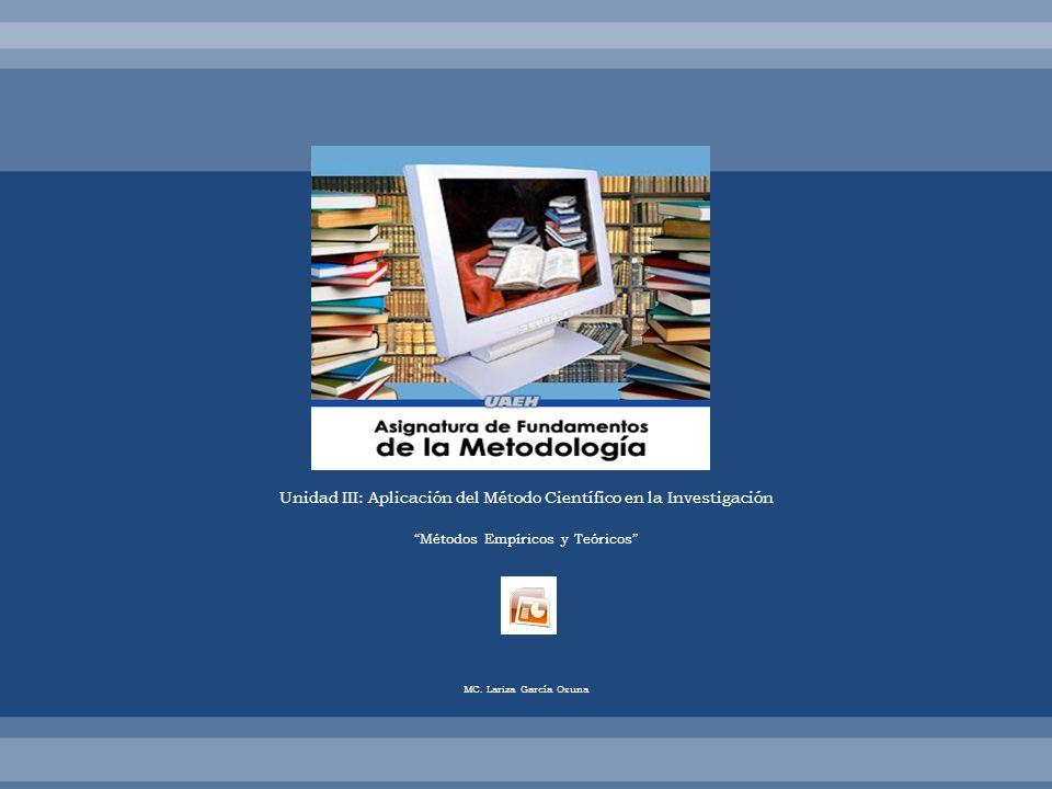 Unidad III: Aplicación del Método Científico en la Investigación