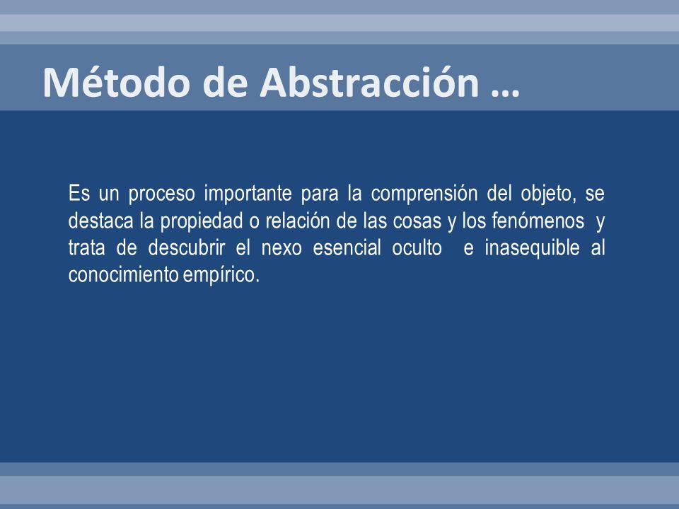 Método de Abstracción …