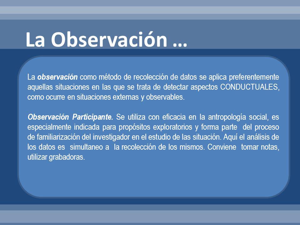La Observación …