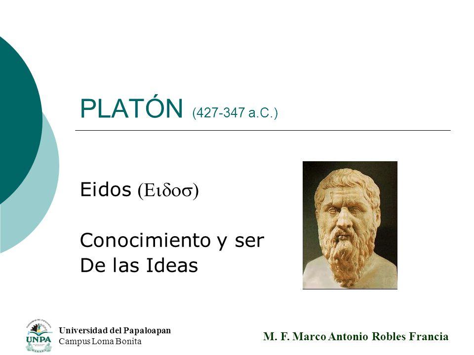 Eidos (Eidos) Conocimiento y ser De las Ideas