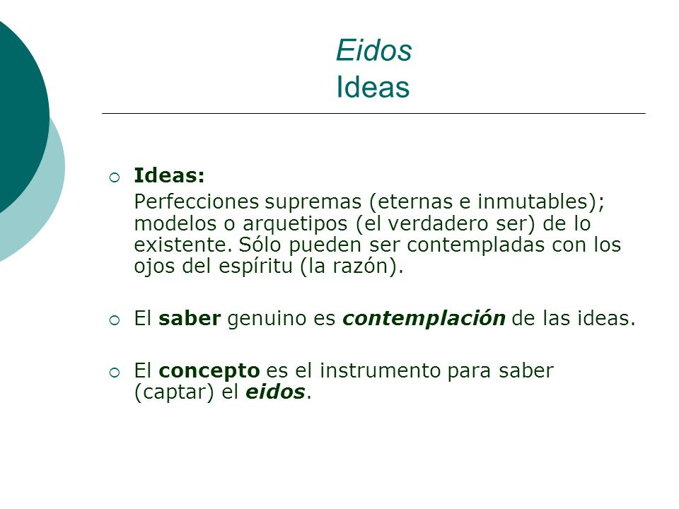 Eidos Ideas Ideas: