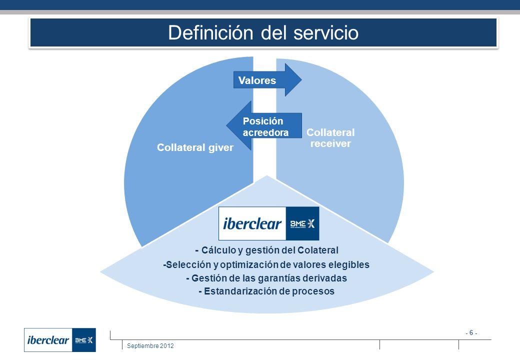 Definición del servicio