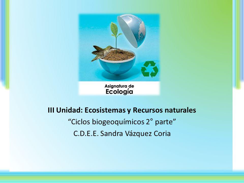 III Unidad: Ecosistemas y Recursos naturales