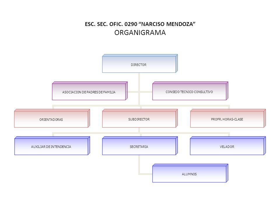 ESC. SEC. OFIC. 0290 NARCISO MENDOZA ORGANIGRAMA
