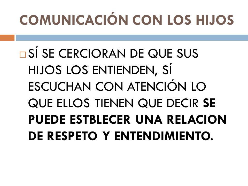 COMUNICACIÓN CON LOS HIJOS