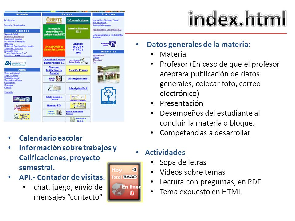 index.html Datos generales de la materia: Materia