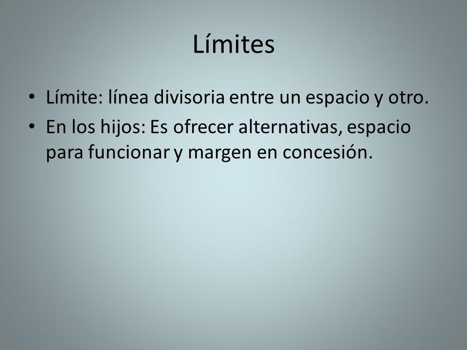 Límites Límite: línea divisoria entre un espacio y otro.