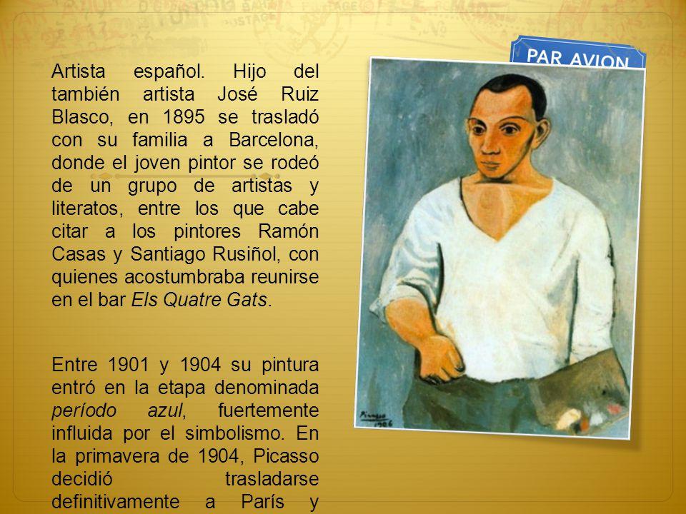 Artista español. Hijo del también artista José Ruiz Blasco, en 1895 se trasladó con su familia a Barcelona, donde el joven pintor se rodeó de un grupo de artistas y literatos, entre los que cabe citar a los pintores Ramón Casas y Santiago Rusiñol, con quienes acostumbraba reunirse en el bar Els Quatre Gats.