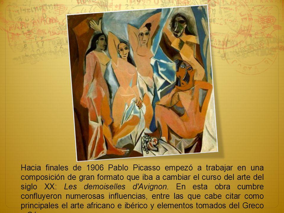 Hacia finales de 1906 Pablo Picasso empezó a trabajar en una composición de gran formato que iba a cambiar el curso del arte del siglo XX: Les demoiselles d Avignon.