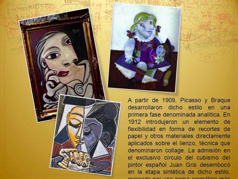 A partir de 1909, Picasso y Braque desarrollaron dicho estilo en una primera fase denominada analítica.