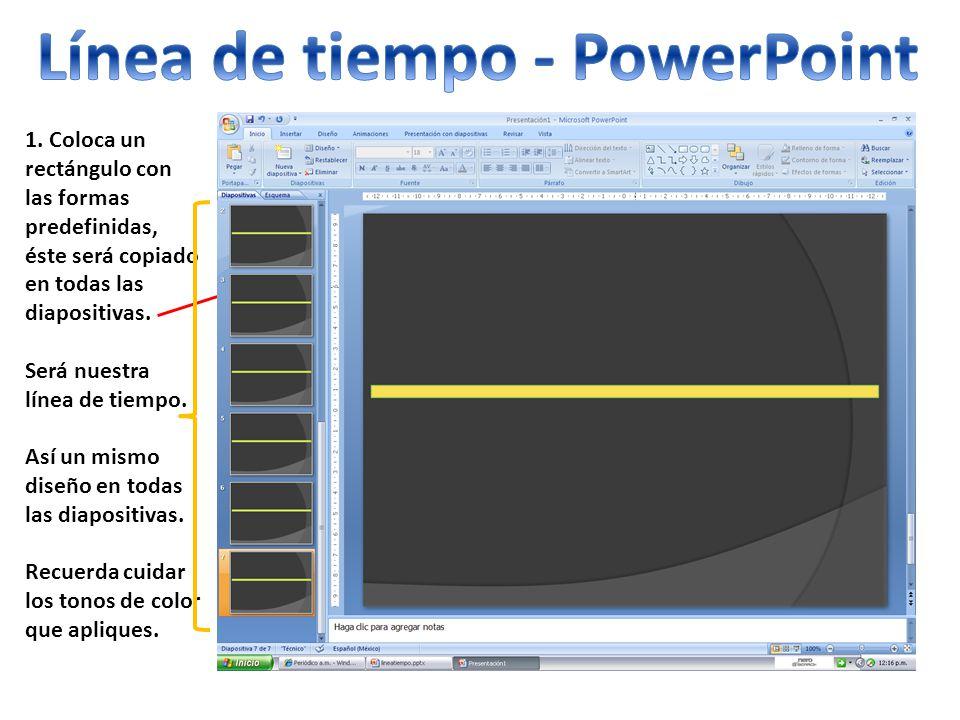 Línea de tiempo - PowerPoint
