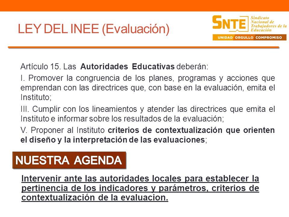 LEY DEL INEE (Evaluación)