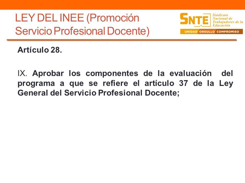 LEY DEL INEE (Promoción Servicio Profesional Docente)