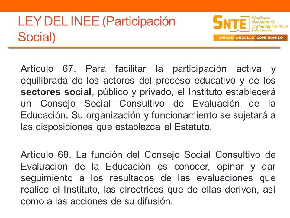 LEY DEL INEE (Participación Social)