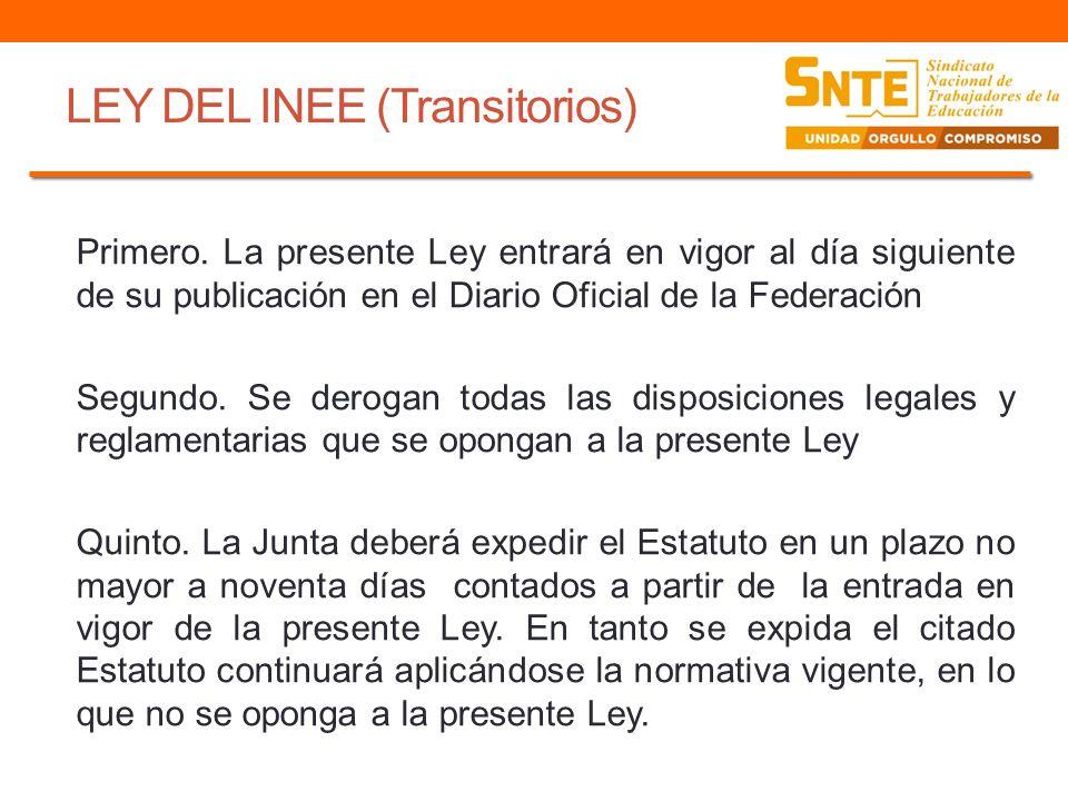 LEY DEL INEE (Transitorios)