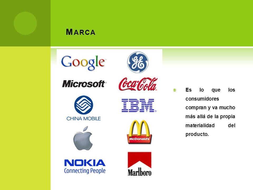 Marca Es lo que los consumidores compran y va mucho más allá de la propia materialidad del producto.