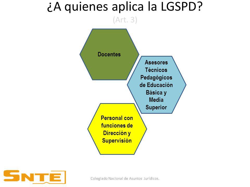 ¿A quienes aplica la LGSPD (Art. 3)