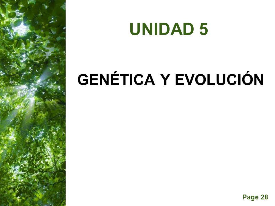 UNIDAD 5 GENÉTICA Y EVOLUCIÓN