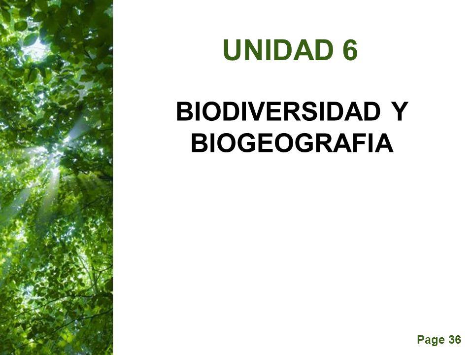BIODIVERSIDAD Y BIOGEOGRAFIA