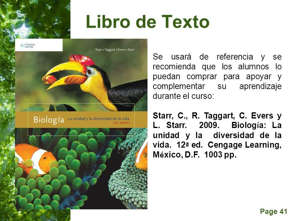 Libro de Texto Se usará de referencia y se recomienda que los alumnos lo puedan comprar para apoyar y complementar su aprendizaje durante el curso: