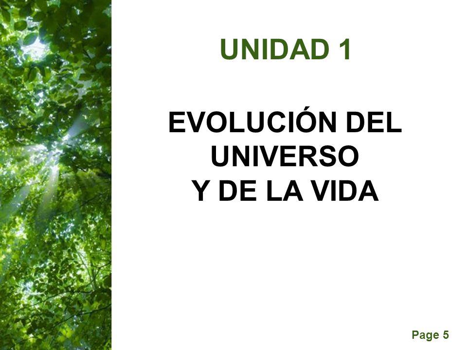 EVOLUCIÓN DEL UNIVERSO Y DE LA VIDA