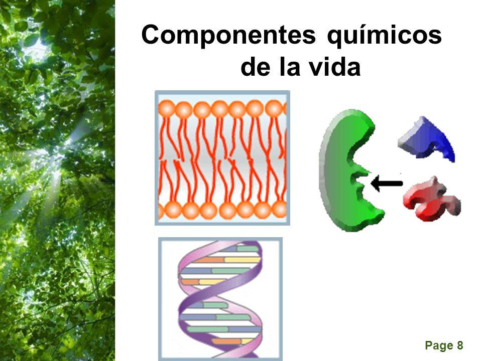 Componentes químicos de la vida