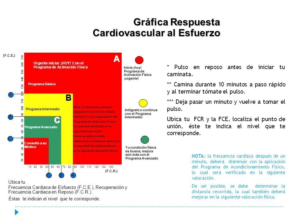 Gráfica Respuesta Cardiovascular al Esfuerzo
