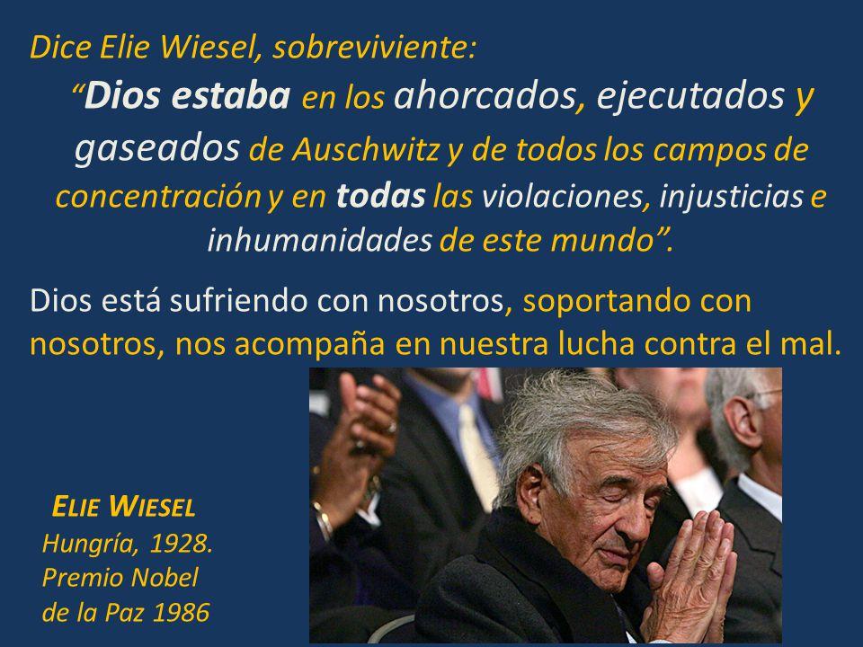 Dice Elie Wiesel, sobreviviente: