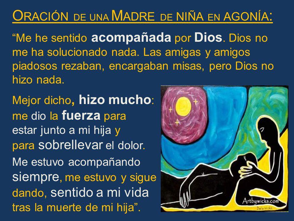 Oración de una Madre de niña en agonía: