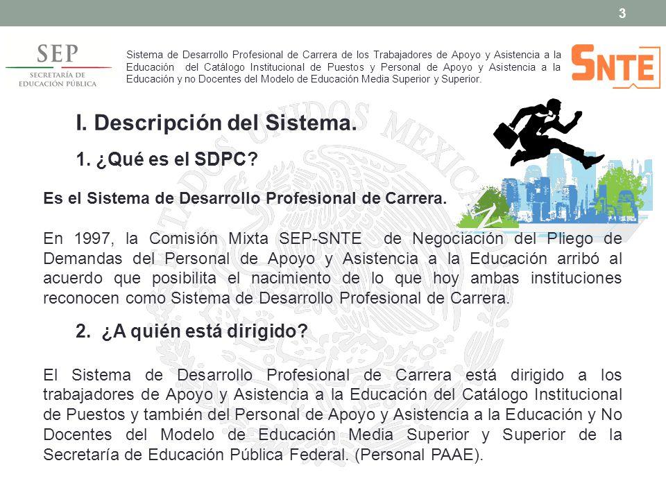 I. Descripción del Sistema.
