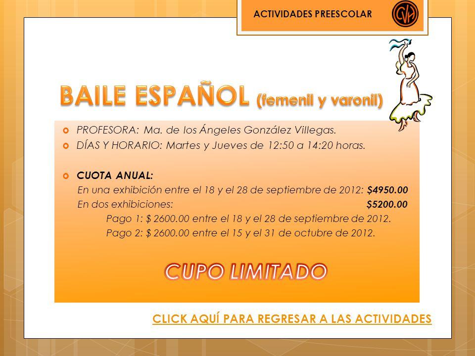 BAILE ESPAÑOL (femenil y varonil)