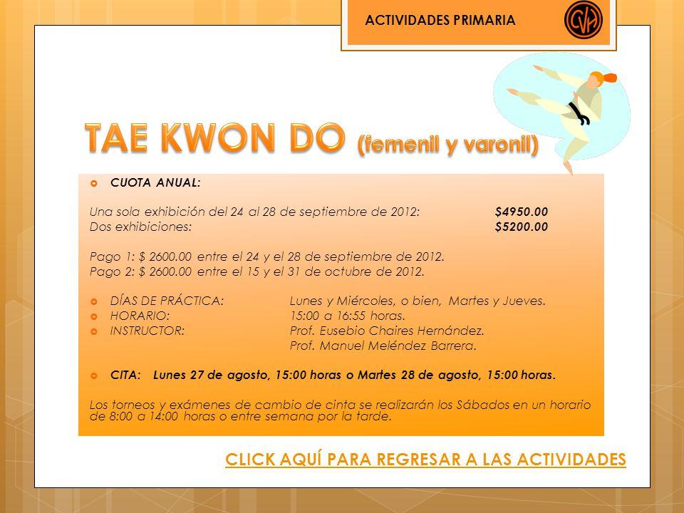 TAE KWON DO (femenil y varonil)