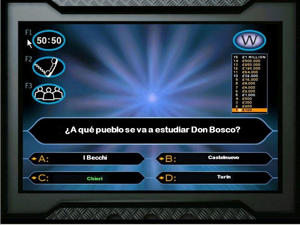 ¿A qué pueblo se va a estudiar Don Bosco