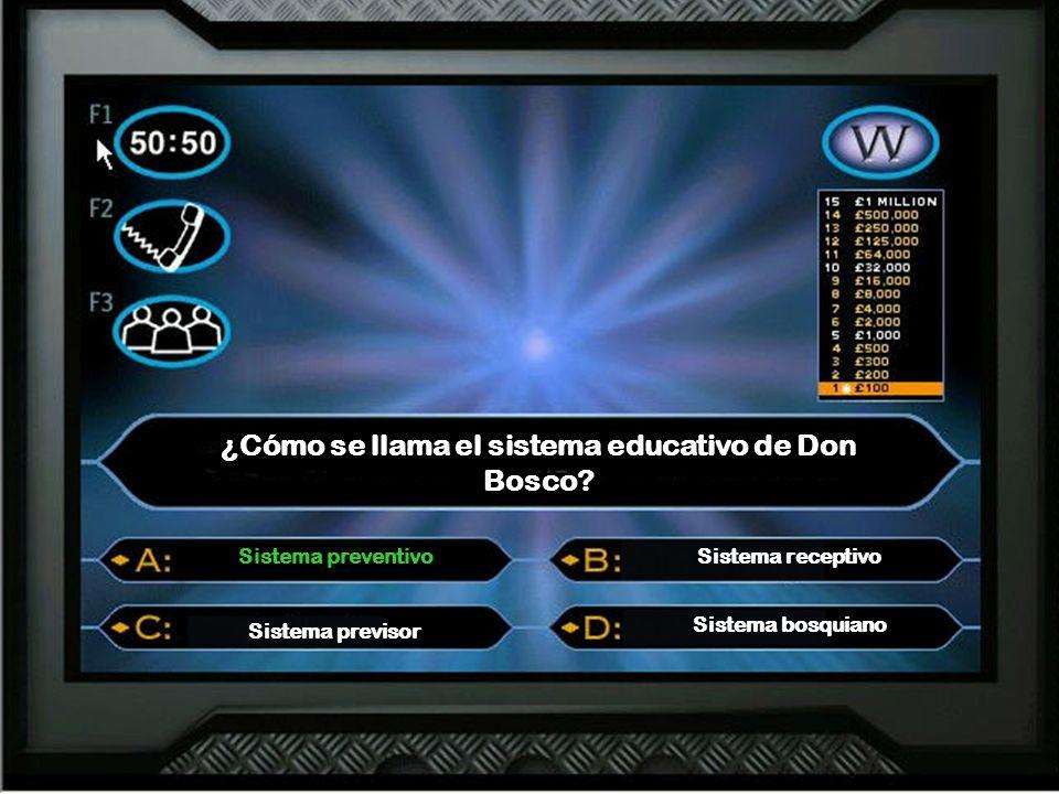 ¿Cómo se llama el sistema educativo de Don Bosco