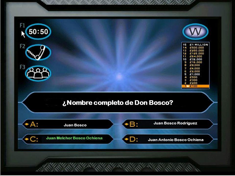 ¿Nombre completo de Don Bosco